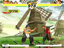 In game image of Capcom Vs. SNK 2 Millionaire Fighting 2001 on the Arcade.