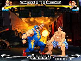 In game image of Capcom Vs. SNK Millennium Fight 2000 on the Arcade.