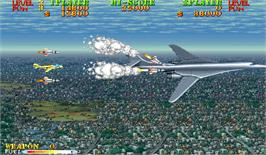 In game image of Carrier Air Wing on the Arcade.