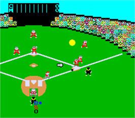 In game image of Champion Base Ball Part-2: Pair Play on the Arcade.