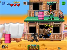 In game image of Charlie Ninja on the Arcade.