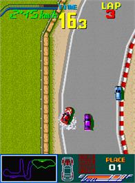In game image of Chequered Flag on the Arcade.