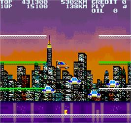 In game image of City Connection on the Arcade.