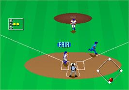 In game image of Clutch Hitter on the Arcade.