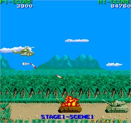 In game image of Cobra-Command on the Arcade.