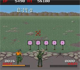 In game image of Combat School on the Arcade.