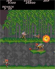 In game image of Contra on the Arcade.