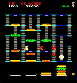 In game image of Cook Race on the Arcade.