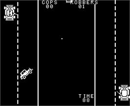 In game image of Cops'n Robbers on the Arcade.