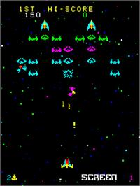 In game image of Cosmic Alien on the Arcade.
