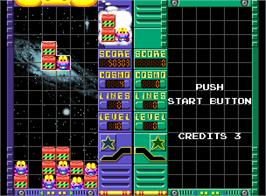 In game image of Cosmo Gang the Puzzle on the Arcade.