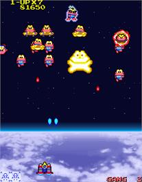 In game image of Cosmo Gang the Video on the Arcade.