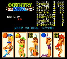 In game image of Country Girl on the Arcade.