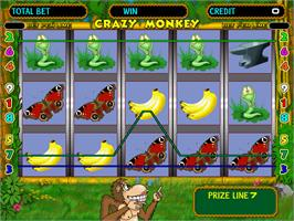 In game image of Crazy Monkey on the Arcade.