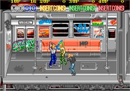 In game image of Crime Fighters on the Arcade.