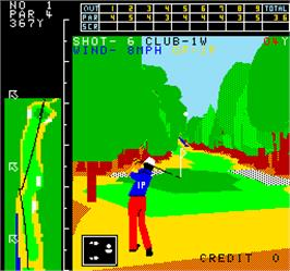 In game image of Crowns Golf on the Arcade.