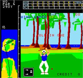 In game image of Crowns Golf in Hawaii on the Arcade.