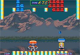 In game image of Cuby Bop on the Arcade.