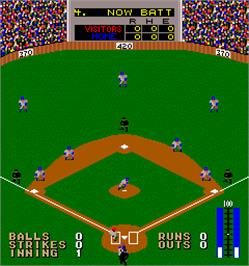 In game image of Curve Ball on the Arcade.
