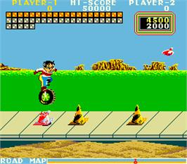 In game image of Cycle Mahbou on the Arcade.