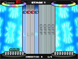 In game image of Dance Freaks on the Arcade.