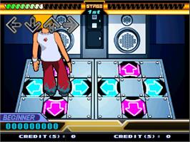 In game image of Dancing Stage Euro Mix 2 on the Arcade.