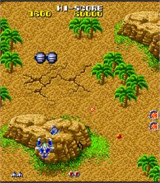 In game image of Dangar - Ufo Robo on the Arcade.