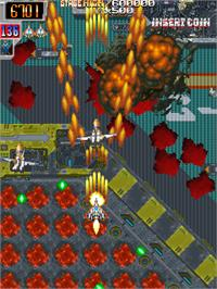 In game image of Dangun Feveron on the Arcade.