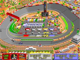 In game image of Danny Sullivan's Indy Heat on the Arcade.