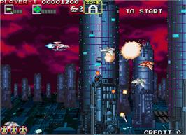 In game image of Darius Gaiden - Silver Hawk on the Arcade.