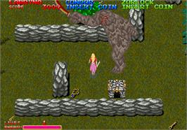 In game image of Dark Adventure on the Arcade.