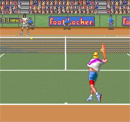 In game image of David Crane's Amazing Tennis on the Arcade.