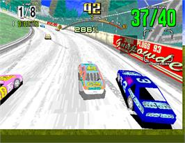 In game image of Daytona USA on the Arcade.