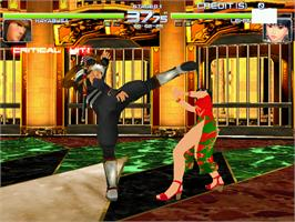 In game image of Dead or Alive 2 on the Arcade.