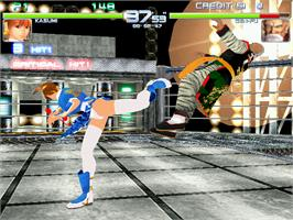 In game image of Dead or Alive 2 Millennium on the Arcade.