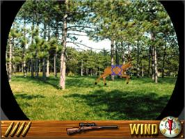In game image of Deer Hunting USA V2 on the Arcade.