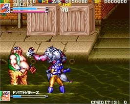 In game image of Denjin Makai on the Arcade.