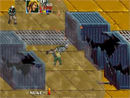 In game image of Desert Assault on the Arcade.