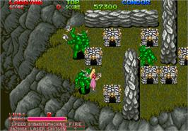 In game image of Devil World on the Arcade.