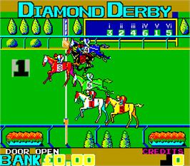 In game image of Diamond Derby on the Arcade.
