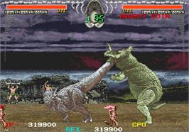 In game image of Dino Rex on the Arcade.