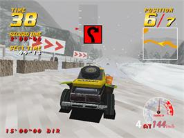 In game image of Dirt Dash on the Arcade.