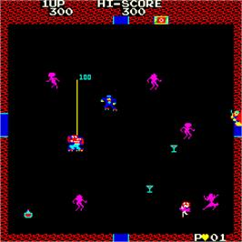 In game image of Disco No.1 on the Arcade.