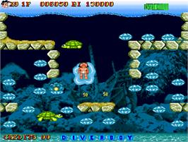 In game image of Diver Boy on the Arcade.