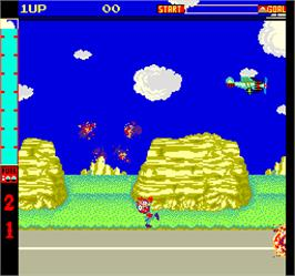 In game image of Dog-Fight on the Arcade.
