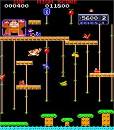 In game image of Donkey King Jr. on the Arcade.