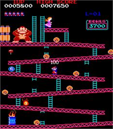 In game image of Donkey Kong II - Jumpman Returns on the Arcade.
