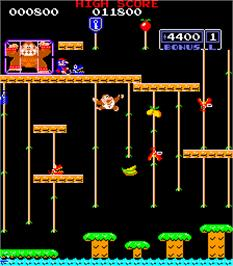 In game image of Donkey Kong Jr. on the Arcade.