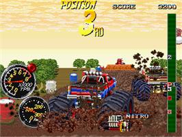 In game image of Double Axle on the Arcade.