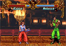 In game image of Double Dragon on the Arcade.